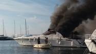 Πήρε φωτιά σκάφος στην Χαλκιδική