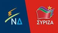 MRB: Με 9,8% προηγείται η ΝΔ του ΣΥΡΙΖΑ στην πρόθεση ψήφου