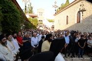 Πάτρα: Πλήθος πιστών κατέκλυσε την Ιερά Μονή Γηροκομείου (pics)