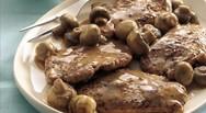 Συνταγή για μοσχαρίσια φιλετάκια με σάλτσα μανιταριών
