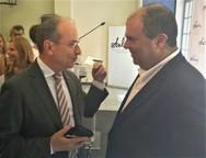 Ο Πρόεδρος του Ε.Ε.Σ. πραγματοποίησε συνάντηση με τον Sir Στέλιο Χατζηιωάννου