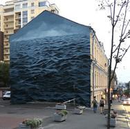 Παρέμβαση στο κέντρο του Κιέβου - Τρικυμιώδης μαύρη θάλασσα καλύπτει τριώροφο κτίριο