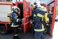 Πάτρα: Κινητοποίηση για φωτιά στην πλατεία Βουδ