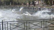 Τεράστια κύματα στη λίμνη Ιωαννίνων (pics+video)