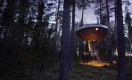 Ένα δεντρόσπιτο που μοιάζει με UFO (video)