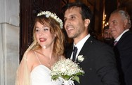 Γάμος στη βροχή για τη Λένα Παπαληγούρα! (φωτο)