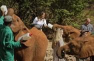 Μελάνια Τραμπ - Τάισε ελεφαντάκια με το μπιμπερό (φωτο)