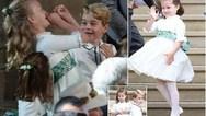 Έκλεψαν την παράσταση στο βασιλικό γάμο ο πρίγκιπας Τζορτζ και η πριγκίπισσα Σάρλοτ (video)