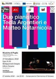'Musiche di Puglia' στην Φιλαρμονική Εταιρία Ωδείο Πατρών