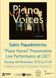 Sakis Papadimitriou - Piano Voices στο Κέντρο Σύγχρονης Τέχνης Θεσσαλονίκης