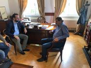 Ο Νεκτάριος Φαρμάκης πραγματοποίησε συναντήσεις στην Πάτρα (pics)