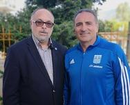 Πάτρα: Ο Δημήτρης Ορφανόπουλος, με το Νίκο Τζανάκο