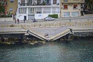 Αυτοψία από μηχανικούς στη γέφυρα που κατέρρευσε στην Καβάλα (φωτο)