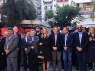 Πάτρα: O Γρηγόρης Αλεξόπουλος στην εκδήλωση μνήμης των πεσόντων πυροσβεστών (pics)