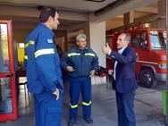 Στο Πυροσβεστικό Κλιμάκιο Κρεστένων ο Περιφερειάρχης Απ. Κατσιφάρας