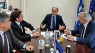 Συνάντηση του Απόστολου Κατσιφάρα με τον υφυπουργό Περιβάλλοντος, Γεώργιο Δημαρά