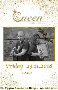 Acoustic Live - Rg&Vana at Queen cafe-bistrot