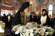 Τελετή Υποδοχής Ιερής Κάρας του Αγίου Παντελεήμονος στο 401 ΓΣΝΑ (φωτο)