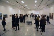 Πάτρα: Δεκάδες φίλοι των εικαστικών παρευρέθηκαν στα εγκαίνια της αναδρομικής έκθεσης του Γιάννη Κολέφα (pics)