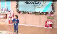 Ο γιος του Κώστα Βουτσά... έκοβε βόλτες στο πλατό του Happy Day (video)
