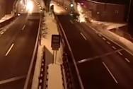 Τρομακτικό τροχαίο - Αυτοκίνητο εκτοξεύτηκε στον αέρα (video)