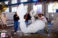 'Πυρετός' εργασιών στο Καρναβαλικό Εργαστήρι της Πάτρας - Καλλιτεχνικό το άρμα του Βασιλιά