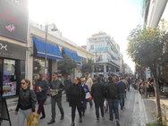 Πάτρα: Κόσμος στο κέντρο, μειώθηκε η κίνηση στα εμπορικά μαγαζιά
