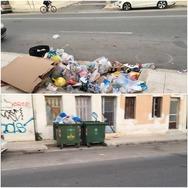 Μόνο στην Πάτρα - Άδειος ο κάδος, 'λόφος' τα σκουπίδια απέναντι! (video)