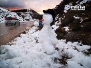 Οδοιπορικό στη χιονισμένη Αργολίδα (φωτο)