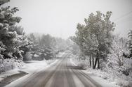 Σε κλοιό χιονιά η Εύβοια