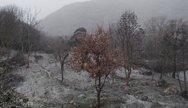 Σφοδρή χαλαζόπτωση και χιόνια στην Κέρκυρα