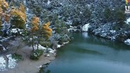 Ένα υπέροχο τοπίο η χιονισμένη Ιπποκράτειος Πολιτεία (video)