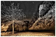 O έναστρος ουρανός μια χειμωνιάτικη νύχτα στα Λαγκάδια της Αρκαδίας