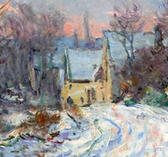 Χιονισμένα τοπία από τους σημαντικότερους ζωγράφους (φωτο)