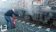 Φωτιά εκδηλώθηκε σε τρένο της γραμμής Θεσσαλονίκη - Αθήνα (pics)