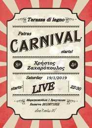 Patras Carnival Starts at Terazza di legno