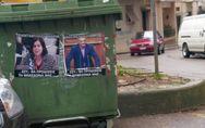 Γέμισε το Αγρίνιο με αφίσες Κουρουμπλή, Βαρεμένου, Τριανταφύλλου ως 'προδοτών' (φωτο)