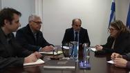 Συνάντηση Απόστολου Κατσιφάρα - Ολυμπίας Τελιγιορίδου για τη στήριξη του πρωτογενούς τομέα