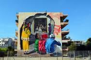 Το mural 'Heart (w) Hole' εντυπωσιάζει στην Πάτρα (video)