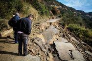 Ηλεία - Κατολισθήσεις και καθιζήσεις δρόμων από τις βροχοπτώσεις (φωτο)