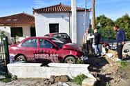Ναύπλιο: Δύο οχήματα κατέληξαν μέσα σε σπίτι (φωτο)