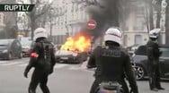 Πυρπόλησαν και έσπασαν Porsche και Ferrari στο Παρίσι (φωτο)