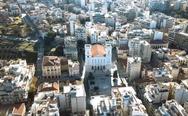 Πάτρα: Μια ιδιαίτερη πτήση πάνω από τον Ιερό Ναό της Παντάνασσας (video)