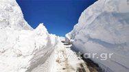 Τα έξι μέτρα έφτασε το χιόνι στο Βελούχι (φωτο)