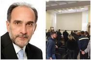 Πάτρα: Γιούχαραν τον Απόστολο Κατσιφάρα στο κτίριο του ΤΕΕ