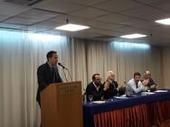 Στη συνεδρίαση της ΝΟΣ Αχαΐας o Ήλειος υποψήφιος ευρωβουλευτής Λευτέρης Βαρουξής