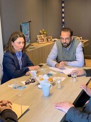 Συνάντηση Αλεξοπούλου - Φαρμάκη για την Αιγιάλεια και τη διάβρωση των ακτών της Αχαΐας