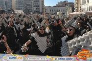 Οι 'Kαρτέλ' ήταν μία άλλη νότα στη μεγάλη παρέλαση του Πατρινού Καρναβαλιού