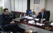 Ο Απόστολος Κατσιφάρας συναντήθηκε με τον νέο Διοικητή των Πυροσβεστικών Υπηρεσιών Δυτικής Ελλάδος