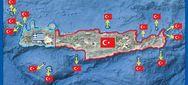 Χάρτης εμφανίζει ως τουρκική σχεδόν όλη την Κρήτη (video)
